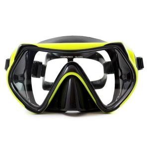 China Food Grade Silicone Snorkel Mask , Anti-fog Diving Mask for Adult on sale