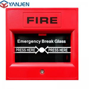 China Emergency Break Glass Fire Manual Call Point 105db Sound 12/24VDC Optional on sale
