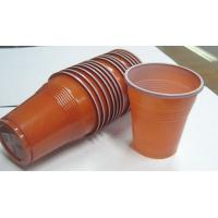 5oz 166ml Disposable Juice Cups , Plastic Double Color Coffee Cups