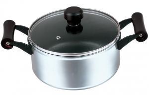 China Aluminum Alloy Polished Non Stick Sauce Pot With Ceramic Coating on sale