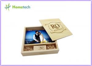 China Maple And Walnut Custom Wood Flash Drives Photo Album Shape For Wedding Gifts on sale