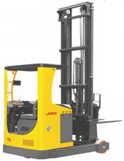 China Stable Electric Mast Reach Truck , 2 Ton Forklift Warehouse Lifing Equipment on sale