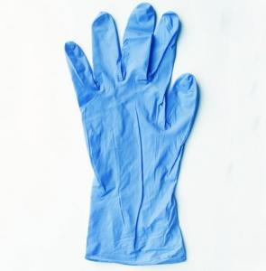 China Powder Free And Latex Blue Disposable Nitrile Gloves Chemical Resistance on sale