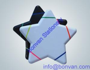 China star shape highlighter marker, gift promotional marker,5 colors highlighter marker on sale