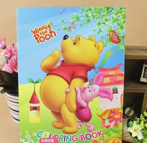 China Saddle stitch binding children book printing A4 size on sale