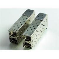 76090-5001 CONN CAGE SFP+ 2X1 W/LIGHT PIPE THT, R/A, Board Guide, EMI Shielded