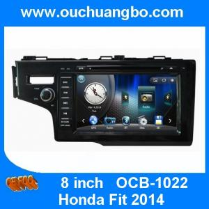 China Ouchuangbo multimedia gps radio tape recorder Honda Fit 2014 with BT iPod CD brazil map on sale