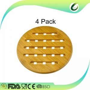 China cheap weaving bamboo round pot coaster on sale
