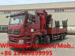 high quality and best price SHACMAN delong 8*4 LHD 340hp 30T knuckle crane boom mounted on truck for sale, truck crane