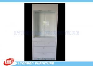 China White Wood Display Cabinets Drawers For Retail Jewelry Displays , Paint Finished on sale