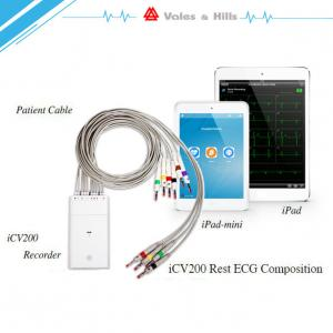China High Definition IOS IPad Handheld Ecg Machine With Wifi Bluetooth Transfer Data on sale