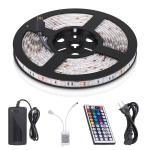 SMD 5050 Waterproof LED Strip Kit RGB 5M 16.4ft 300leds With Remote Control