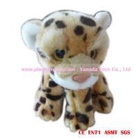 18cm big eyes children gift zoo animal stuffed plush leopard toys