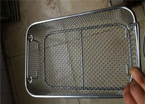 China Perforated  Stainless Steel Wire Mesh Baskets For Medical Sterilization 50 - 120mm Width on sale