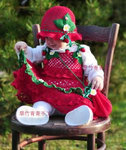 China beautiful hand knitted princess dress,shoes and hat set on sale