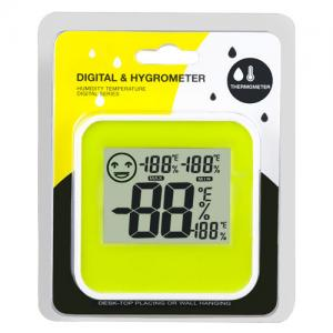 China Mini Digital LCD Home Thermometer Hygrometer Indoor Humidity Temperature Meter Centigrade/Fahrenheit With Level Icon on sale