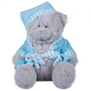 China Bear Soft Plush Stuffed Animals Blue / Grey Color Eco Friendly PP Cotton Filler on sale