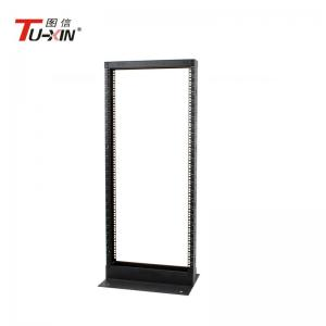 China 2 Post Network Open Frame Server Rack Cold Rolled Steel Power Coated Surface on sale