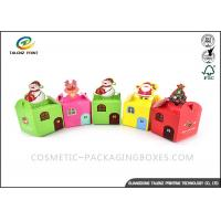 Personalized Disposable Food Boxes Little House Shaped For Christmas Food Packaging