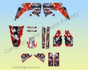China Matter Hatter Graphic Kit For CRF450 Dirt bike Pit Bike Decal Kit on sale