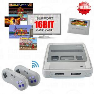 China Super Retro Wireless Controller HD NTSC/PAL 720P 2 in 1 Console System (2018) - for NES, SNES Original Game Cartridges on sale