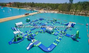 China Giant Lake Inflatable Water Park Rentals , Inflatable Water Sports Equipment on sale