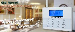 China LCD Icons Touch Keypad House GSM PSTN Burglar Alarm Systems with Wireless Flash Siren on sale