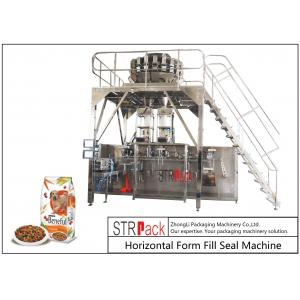 China Doypack Premade Pouch Packaging Machine With Multi Head Scale And Metal Detector Machine on sale