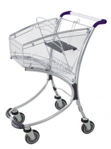 "Quality 4"" inches PU wheels Supermarket Shopping Trolleys designHBE-DB-1,720x510x995mm for sale"