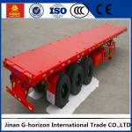 Tri Axle Flatbed 40 FT Container Long Flatbed Trailer Green Red Yellow White Blue Color