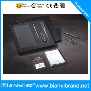 China High Quality notebook gift set with letter opener in gray color on sale
