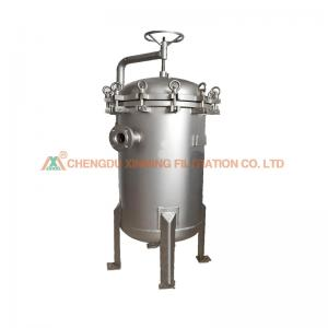 China Easy Operation High Efficiency Liquid Filter Bag Multi Bag Filter Housing on sale