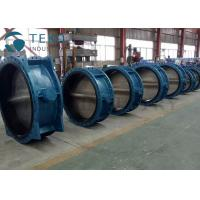 Soft Seal API609 Butterfly Valve Bi - Direcitonal Bubble Tight Double Flange With Gear Actuator