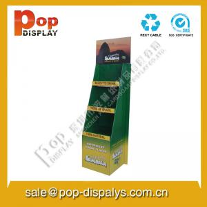 China Eco-friendly Free Standing Cardboard Display Stands For Coffe / Milk on sale