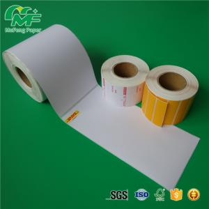 China Full Color Printing Adhesive Sticker Roll Thermal Transfer Label For Barcode Supermarket on sale