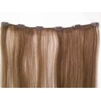 China Pre - Bonded 4# clip in remy human hair extensions / Full Head Real Human Hair on sale