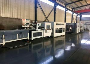 China Alloy Steel Corrugated Paperboard Flexo Printing Slotting Machine / With Folder And Gluer Bundling Machine on sale