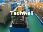 GCr15 Steel Roller Guide Rail Cold Roll Forming Machine With Hydraulic Cutting