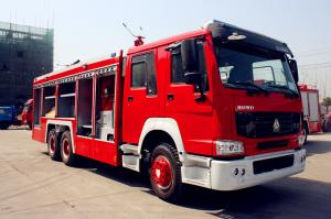 China Sinotruk ZZ1166SSMC46100 Fire Fighting Vehicles 4600mm wheelbase Red Flame On Road 6X4 / 4X2 on sale