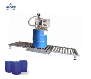 China Solvent Resistant 208L Oil Filling Machine 50 HZ 1 Phase For Barrels Cans on sale
