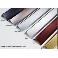 Anodized Effect Angle Shaped Aluminium Floor Trims For Home / Drywall / Countertops