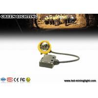 Yellow Water Proof Underground Led Miners Cap Lamp 376g 1.67W IP68
