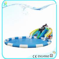 water inflatables large inflatable slide with blower