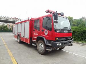 China ISUZU FVR 6ton Fire Brigade Truck , 4000L Water 2000 Liters Foam Tanker Fire Truck on sale