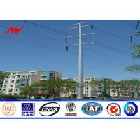 12sides 10M 2.5KN Steel Utility Pole for overhed distribution structures with earth rod