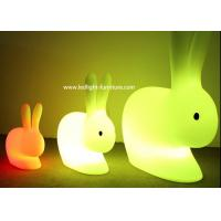 Rechargeable Rabbit Light Up Stool For Kids Play And Easter Holiday Decoration