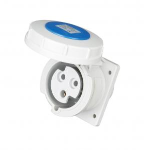 China IP67 Waterproof 3 Phase Plug Socket 50 - 60 Hz Frequency 230V Rated Voltage on sale