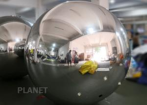 China Shopping Mall Inflatable PVC Mirror Ball Ornaments 1m  Or Customized Size on sale