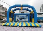 Kids N Adults Inflatable Football Goal shoot With big jumping pad for interactive games