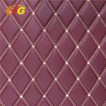 Embroidery PU PVC Leather With High Density Foam With Non-woven For Car Seat Car Floor